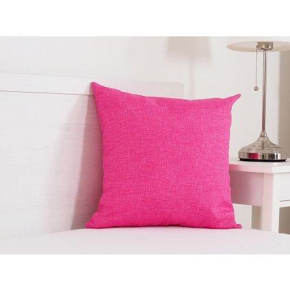 Dekorační polštářek Melange růžový
