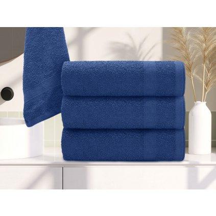 Osuška Basic tmavě modrá