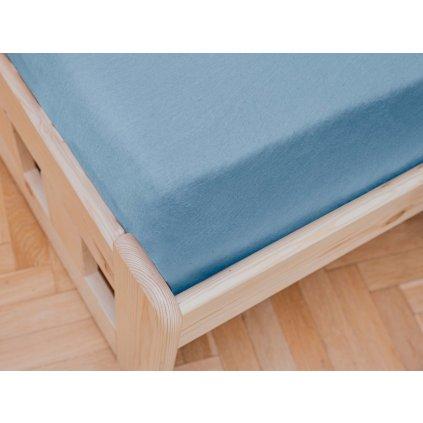 Jersey prostěradlo světle modré 180 x 200 cm