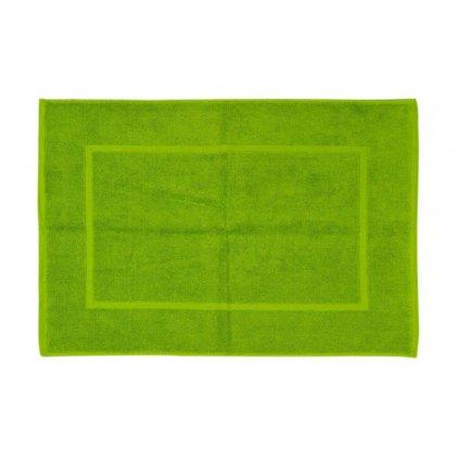 Koupelnová přednožka hotelová rohožka bavlněná froté zelená