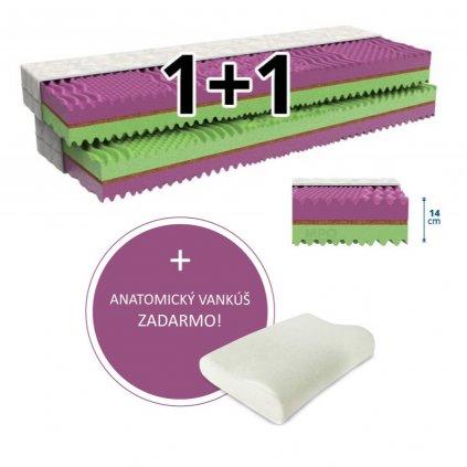 Matrace 1+1 COCOFLEX 2ks 180 x 200 cm (Potah matrace Zdravotní potah - omyvatelný)
