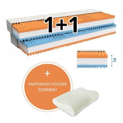 Matrace 1+1 FANTASY 2 ks 140 x 200 cm
