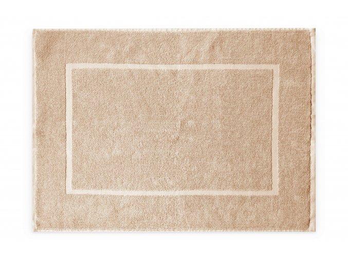 Koupelnová přednožka hotelová rohožka bavlněná froté béžová krémová hnědá