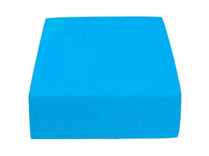 Jersey dvojlůžko azurové (Gramáž (hustota vlákna): Standard(145 g/m2))