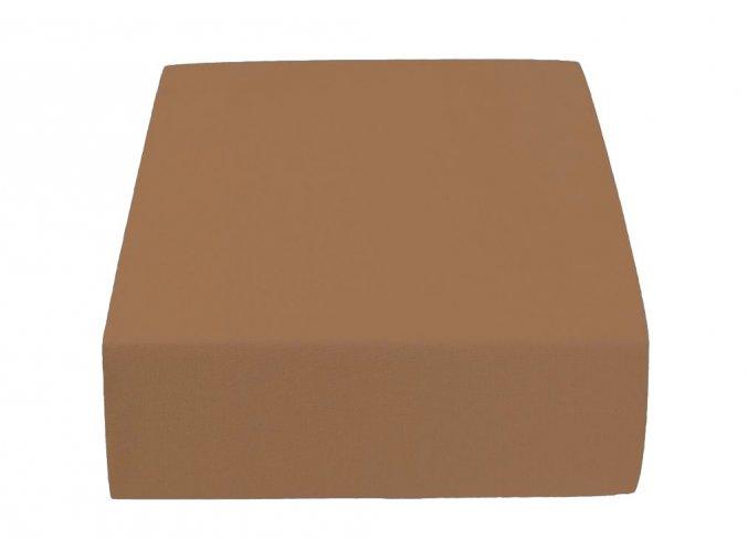 Jersey dvojlůžko hnědé (Gramáž (hustota vlákna) Lux (155 g/m2))