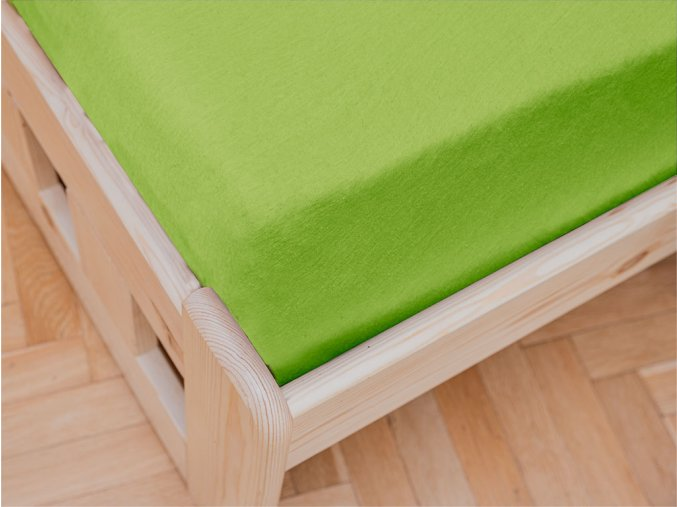 Jersey dvojlůžko zelené (Gramáž (hustota vlákna) Lux (155 g/m2))