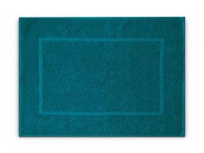 Koupelnová přednožka hotelová rohožka bavlněná froté azurová modrá tyrkysová