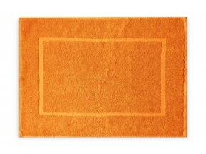 Koupelnová přednožka hotelová rohožka bavlněná froté oranžová