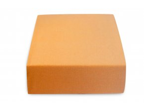 Jersey dvojlůžko meruňkové (Gramáž (hustota vlákna) Lux (155 g/m2))