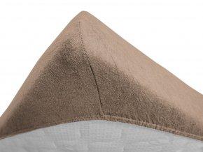 Froté dvojlůžko hnědé (Gramáž (hustota vlákna) Lux (200 g/m2))