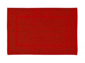 Koupelnová přednožka hotelová rohožka bavlněná froté červená vínová