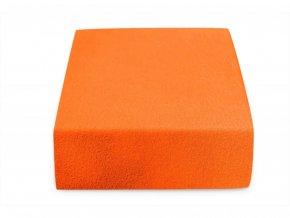 Jersey dvojlůžko oranžové
