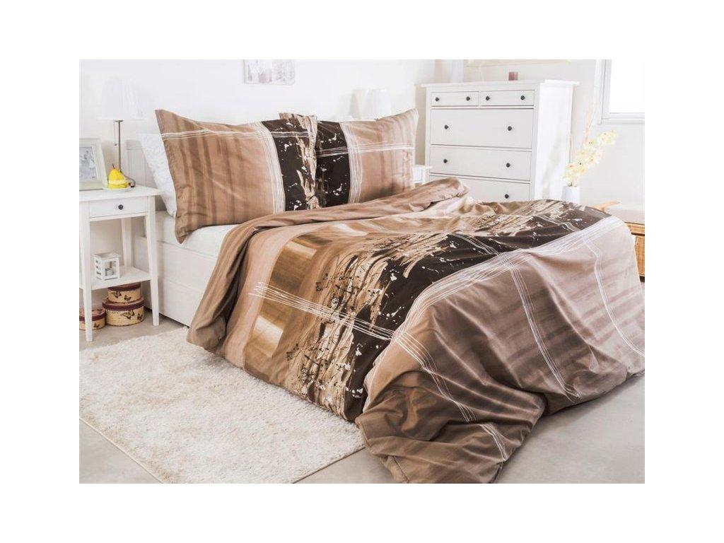 Povlečení hladká bavlna Renforcé se zipem Terre 140x200