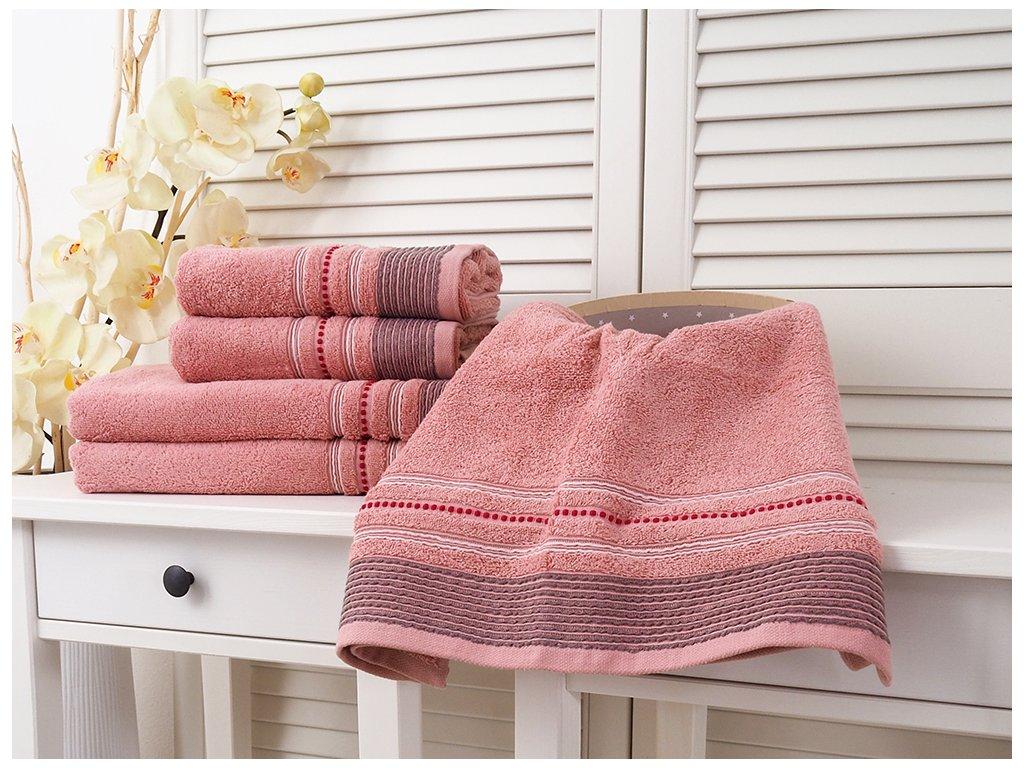 Bavlněný froté ručník 50x90 Fabio - Rose