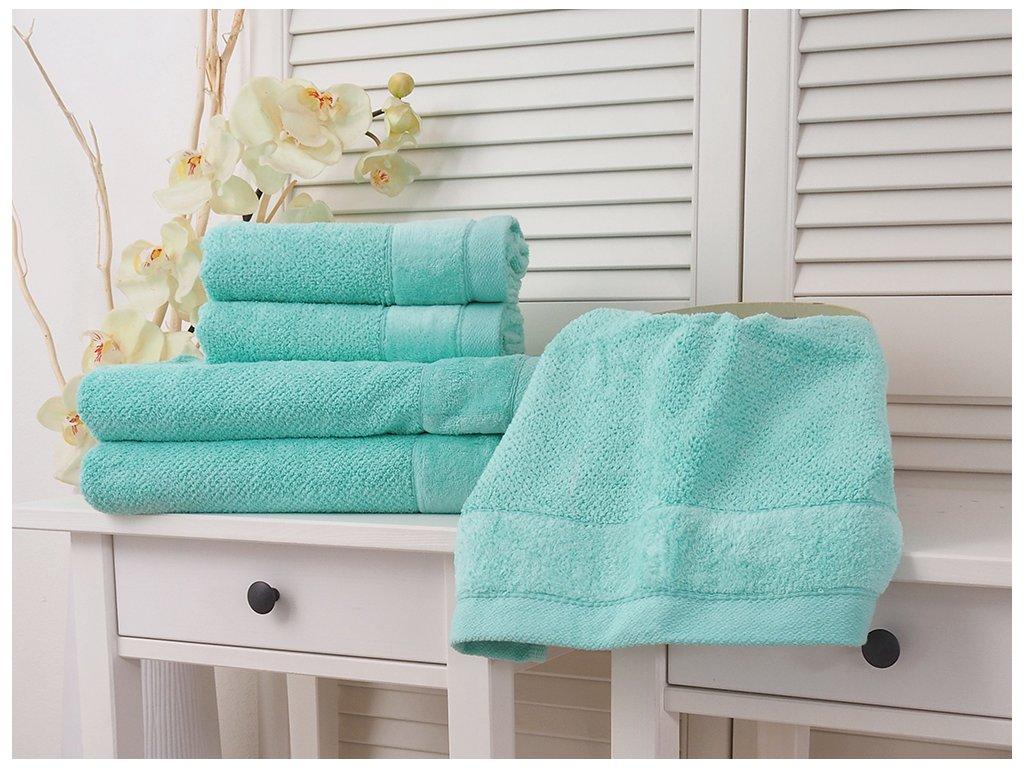 Bavlněný froté ručník 50x90 Vito - Aqua Light