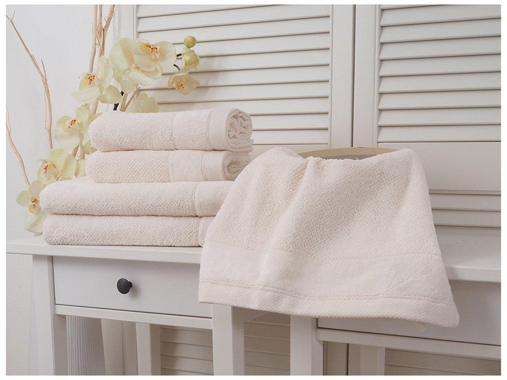 Bavlněný froté ručník 50x90 Vito - Cream