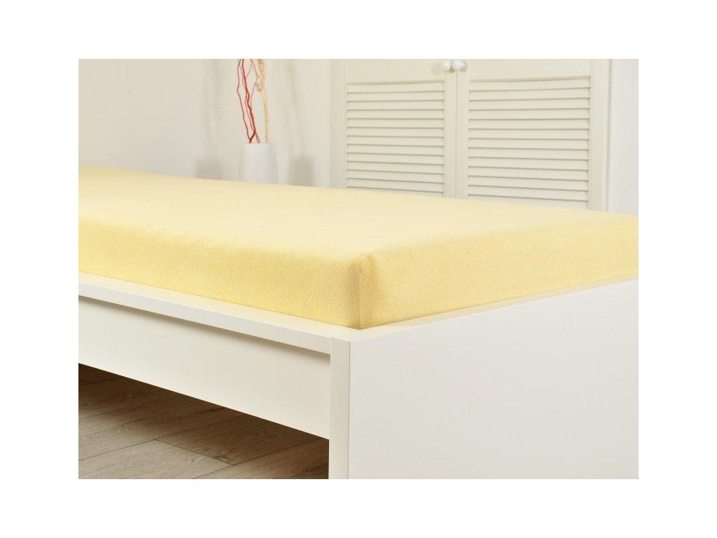 Prostěradlo Froté PERFECT 140-160x200 cm - Žlutá