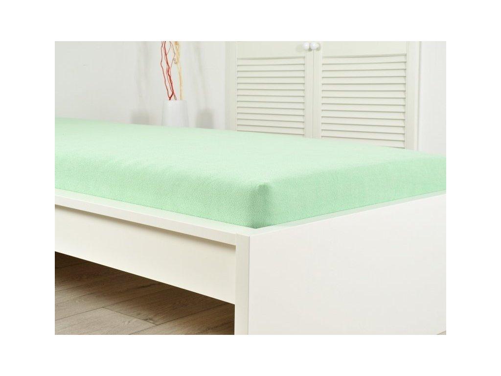 Froté prostěradlo zelená 200 x 220 (190g/m2)
