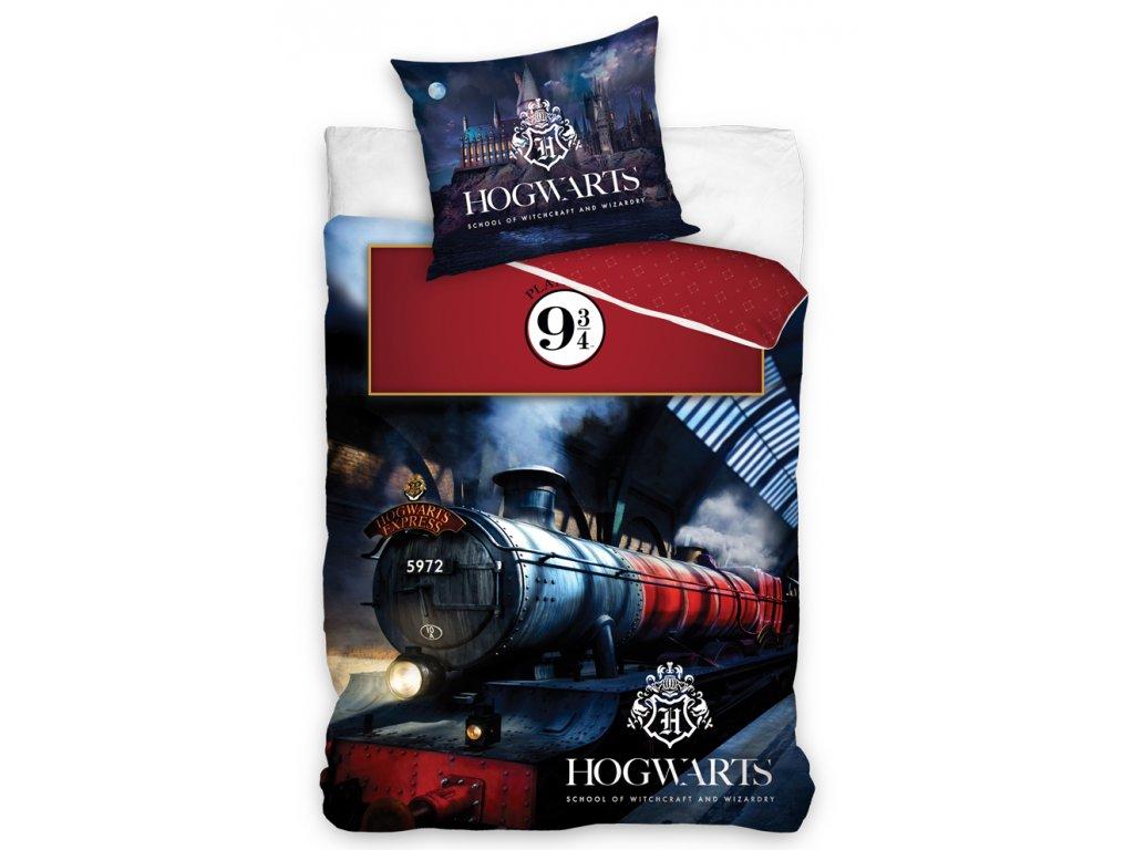 Licenční bavlněné povlečení se zipem 140x200+70x90 - Harry Potter Expres do Bradavic
