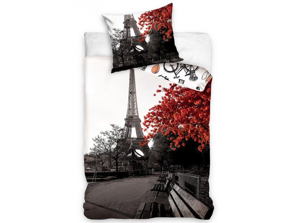Povlečení bavlněné fototisk 140x200+70x90 - Podzim v Paříži