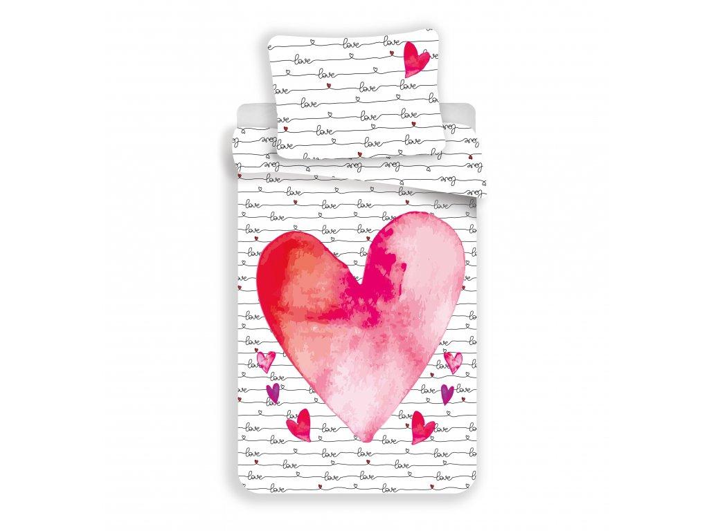 11951 bavlnene povleceni 140x200 70x90 cm love is love