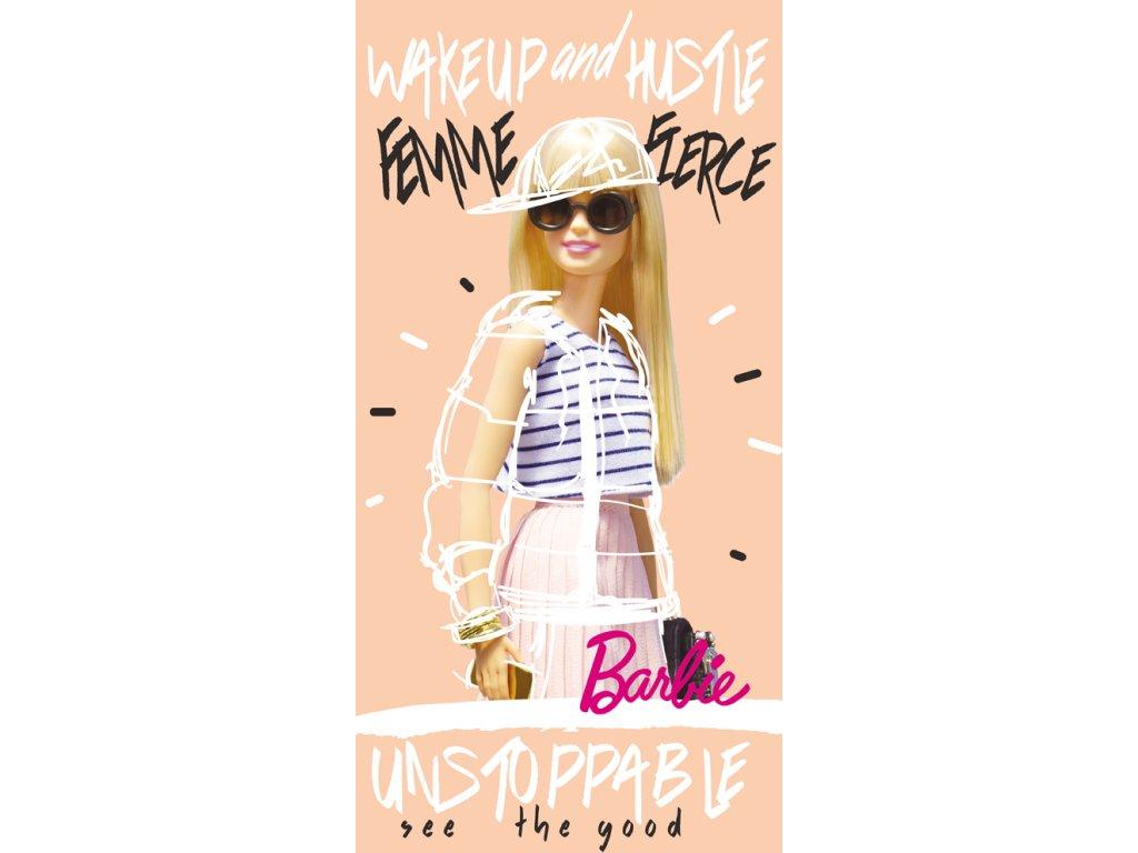 Bavlněná froté osuška 70x140 cm - Barbie Módní Ikona
