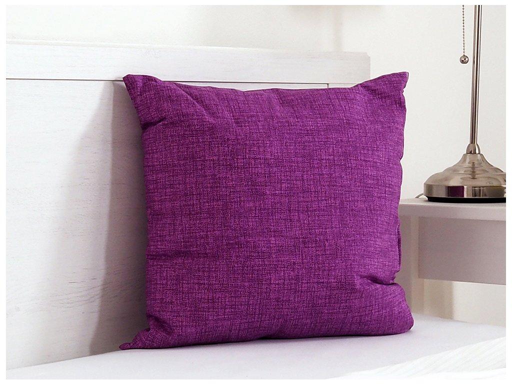 Dekorační polštářek 45x45 - Fialová