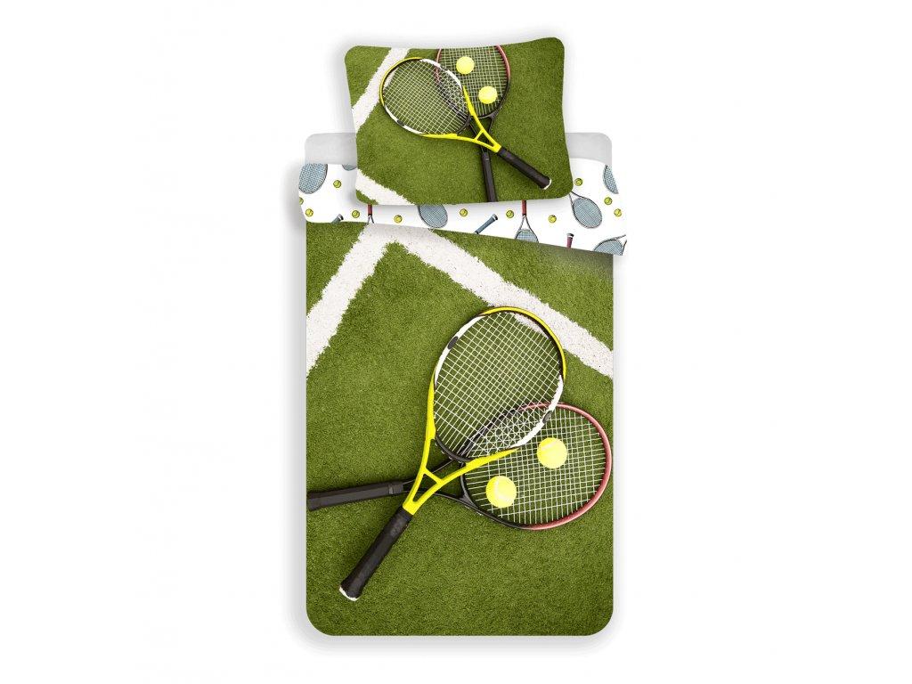 Bavlněné povlečení se zipem Tenis 140x200 + 70x90