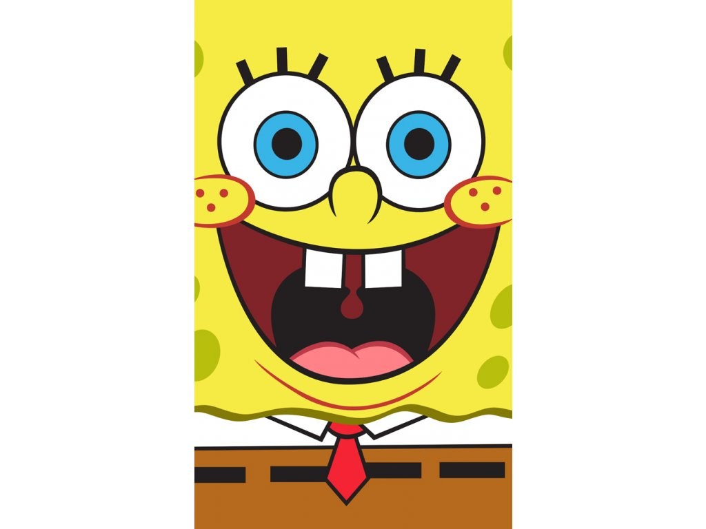 Bavlněný froté ručníček 30x50 cm - Sponge Bob Face