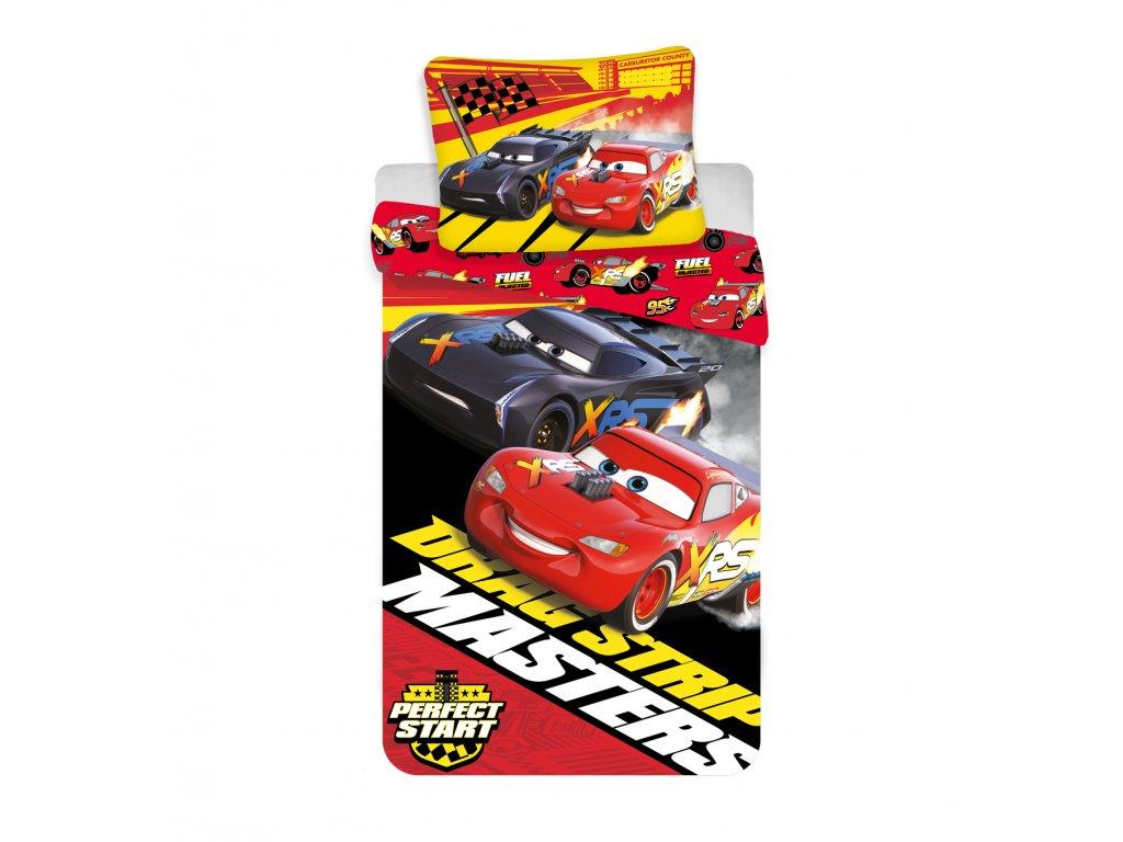 Bavlněné povlečení 140x200 + 70x90 cm - The Cars Masters
