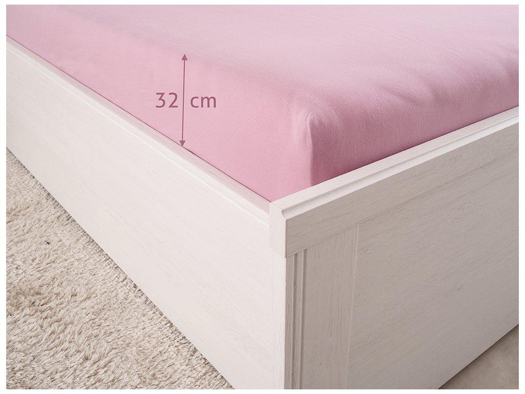 14528 prosteradlo jersey luxus lila 90x200 180g m2