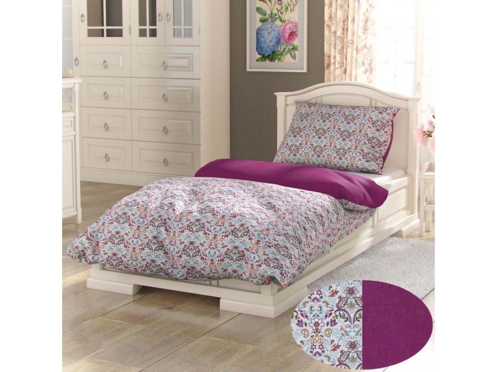 bavlnene povleceni provence collection 140x200 70x90cm narista purpurova 435512 0