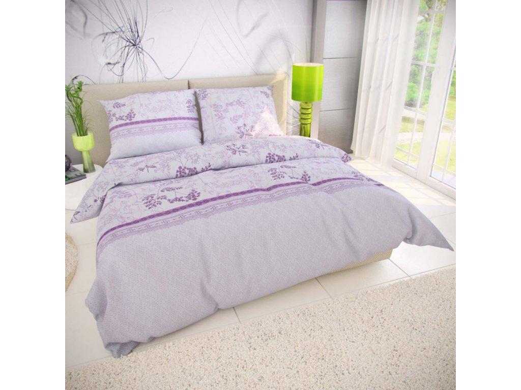 klasicke lozni bavlnene povleceni 140x200 70x90cm lavenda fialova 815310 0