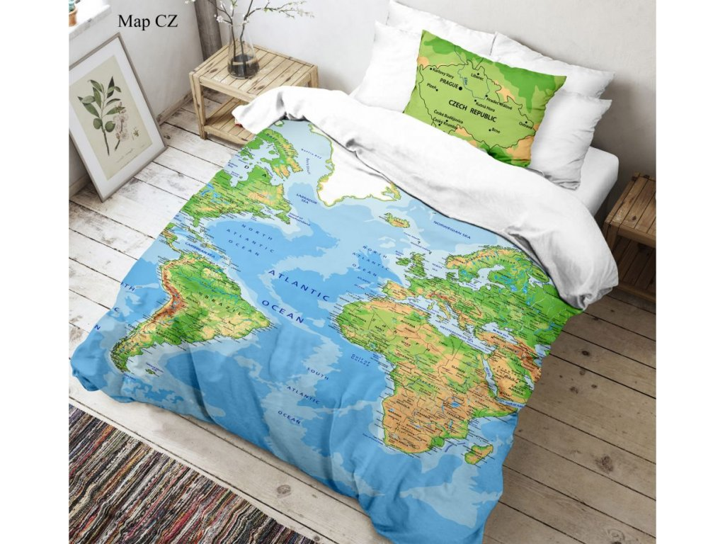 3d povleceni 140x200 70x90cm mapa sveta 767077 0