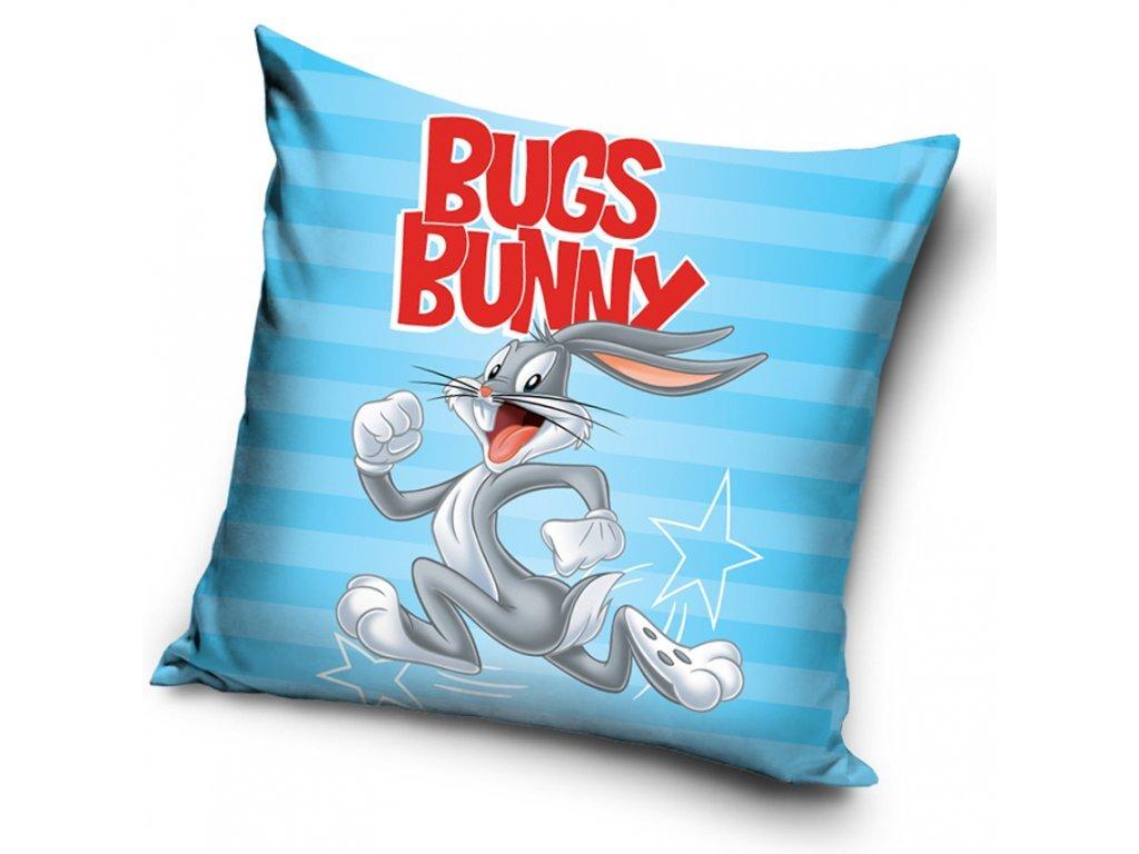 34877 detsky polstarek kralik bugs bunny modry 40x40 cm