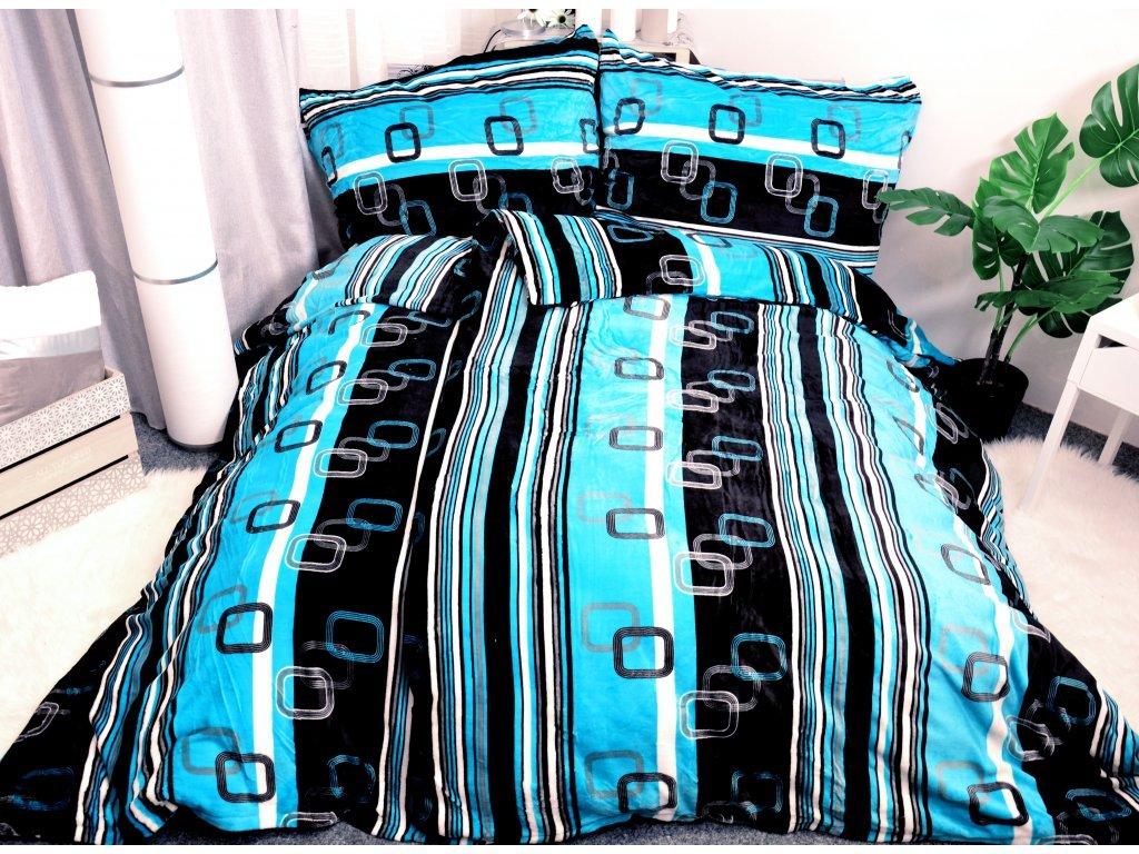 1641 3 1641 2 aaryans povleceni z mikroflanelu velvet modry 140x200 70x90cm