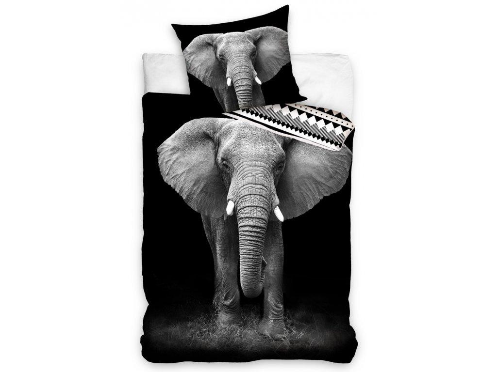 34337 bavlnene povleceni slon africky