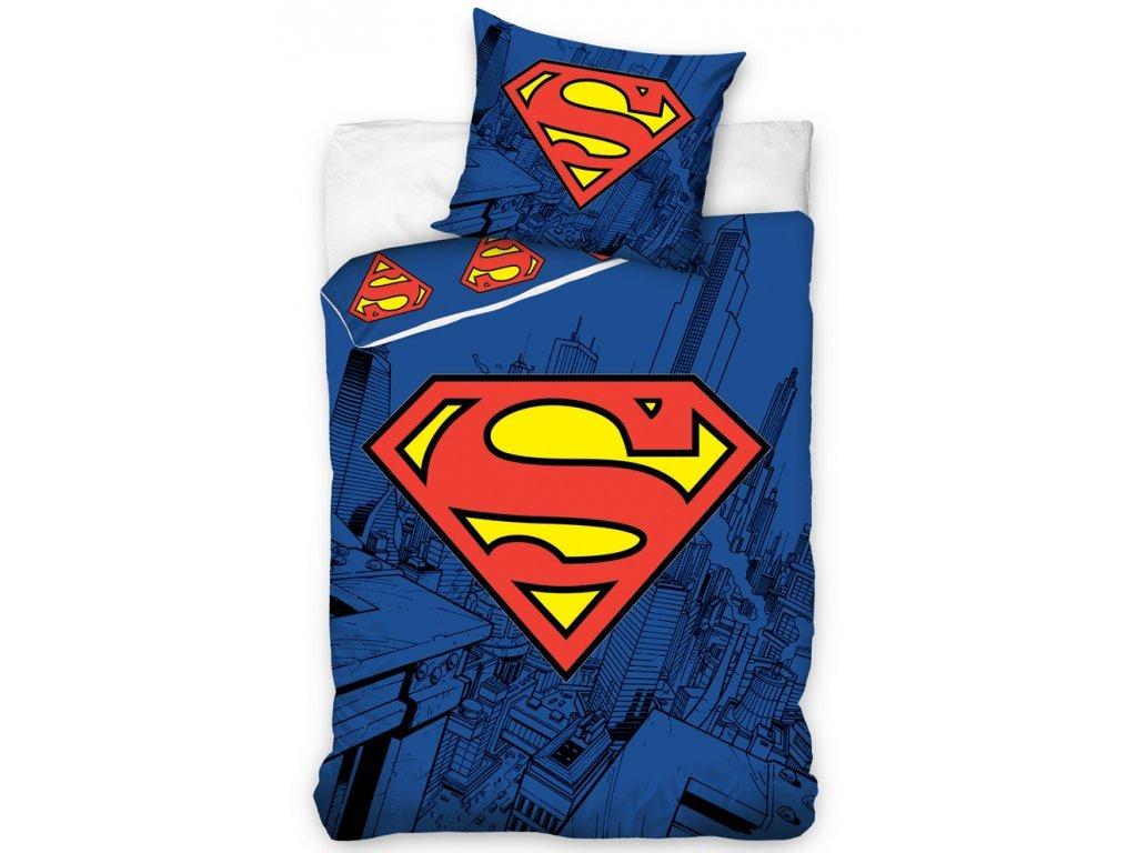 16413 bavlnene povleceni se sviticim efektem 140x200 70x90 cm superman