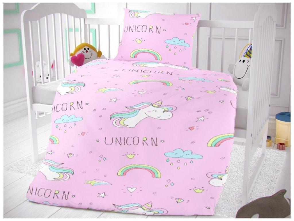 bavlnene povleceni do detske postylky unicorn 829887 0