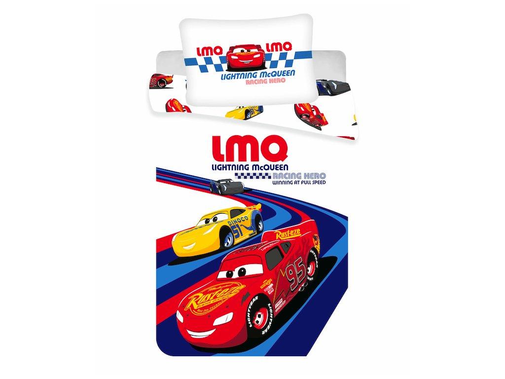 """Povlečení do postýlky 100x135 + 40x60 cm - Cars """"Racing hero"""" baby"""