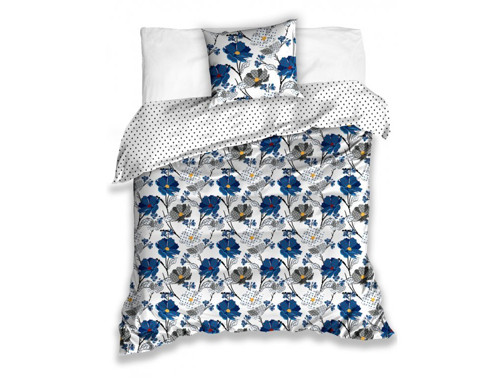 35496 bavlnene povleceni flor modre