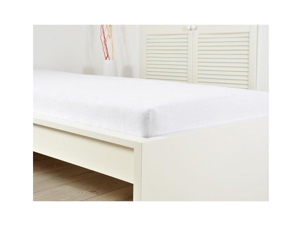 Froté elastické prostěradlo bílé 160 x 200 (190g/m2)