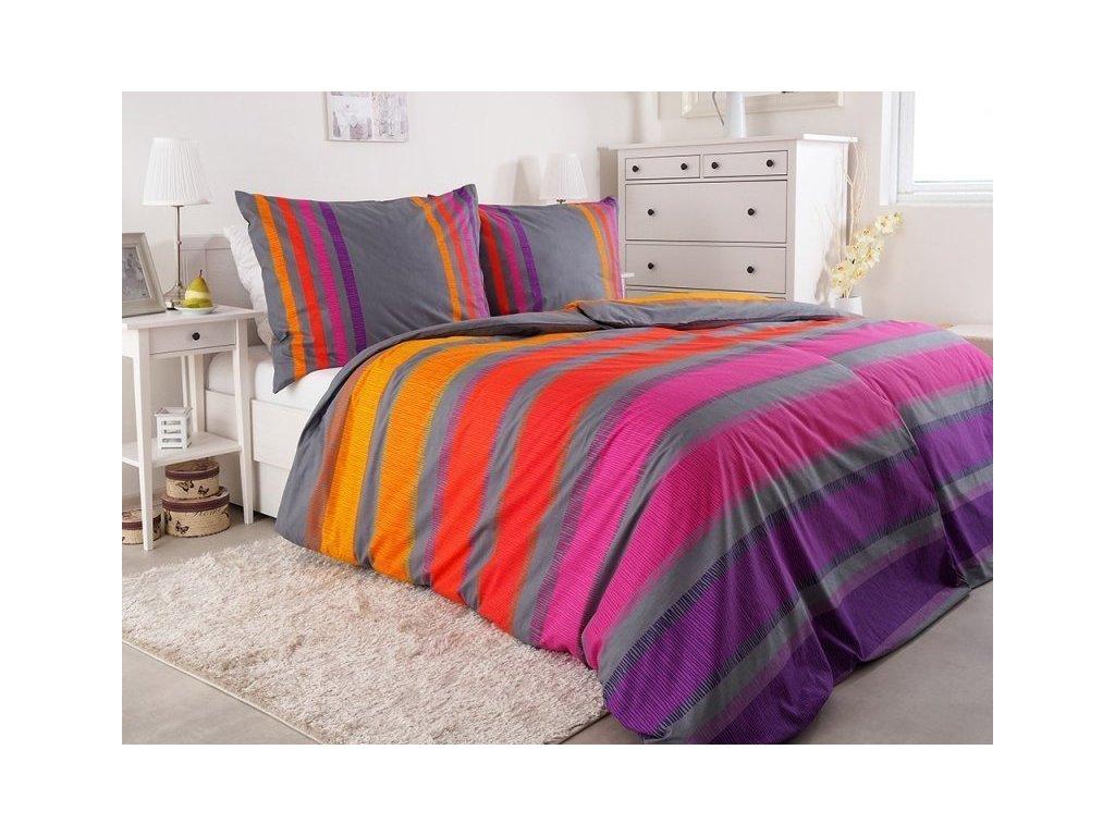 Luxusní bavlněné povlečení Renforcé Simplex fialová 140x200