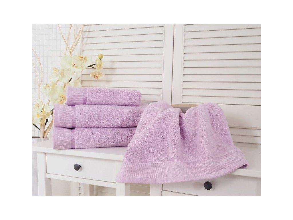 Fialový ručník bavlněný froté 50x100 Fluffy (500g/m2)