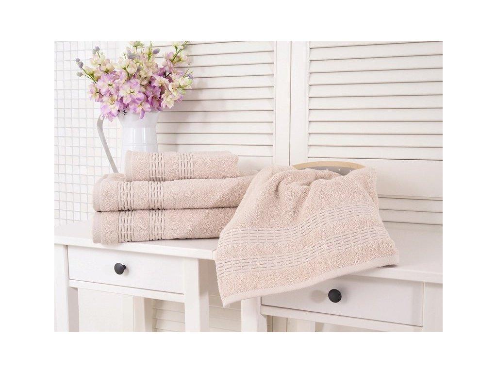 Froté bavlněný ručník krémová 50x90 Estrella (450g/m2)