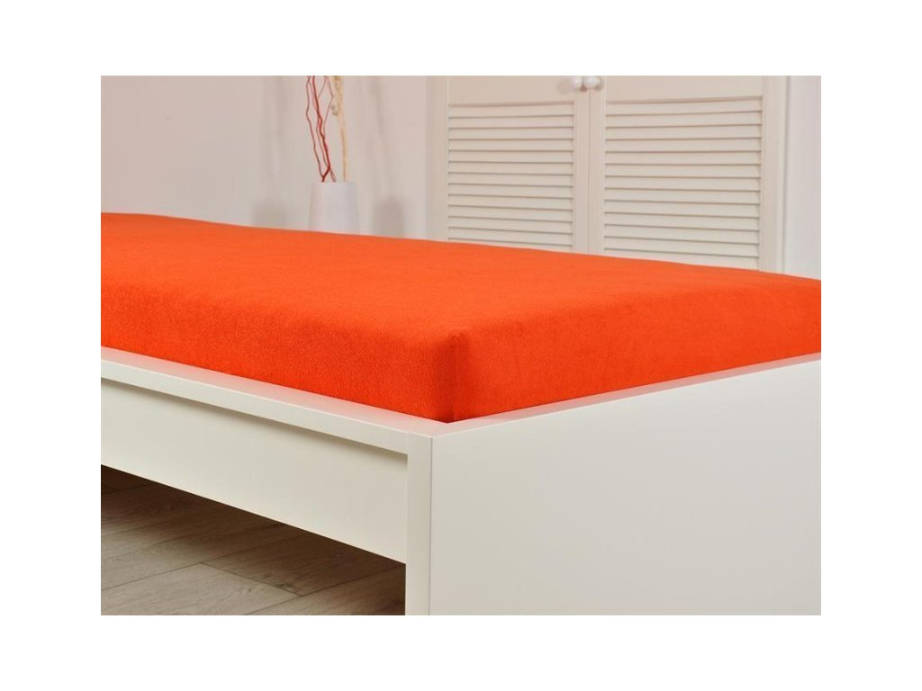 Froté elastické prostěradlo 160x200 cm jahoda (190g/m2)