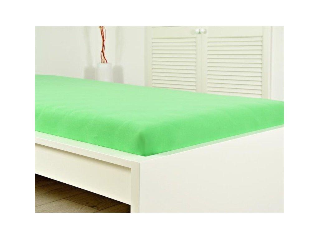 275 jersey elasticke prosteradlo 160x200 s gumou svezi zelena