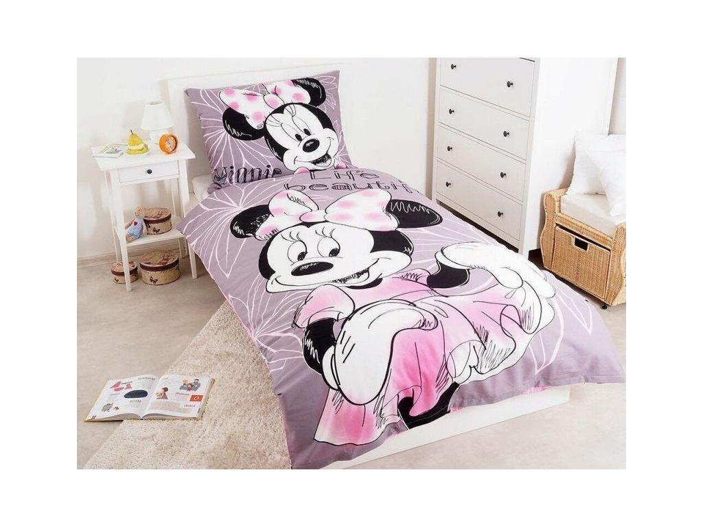 Bavlněné povlečení 140x200 + 70x90 cm - Minnie Beautiful