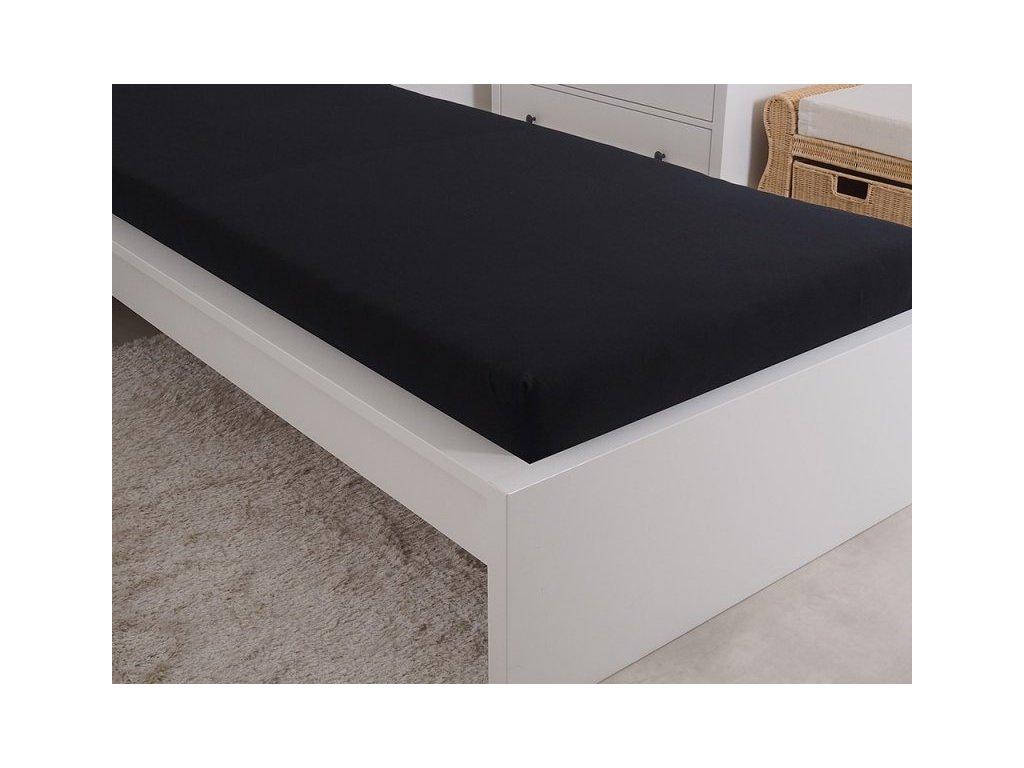 Mako prostěradlo z kvalitní česané bavlny černá 90x200