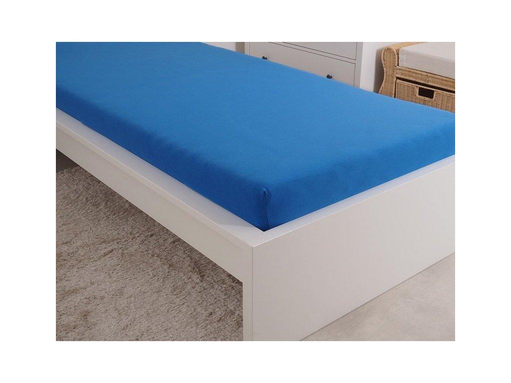 4997 1 prosteradlo jersey cesana bavlna mako 90x200 cm kralovska modra